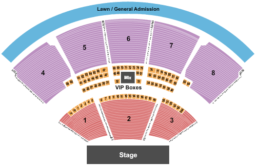 iTHINK Financial Amphitheatre Dave Matthews Band Seating Chart